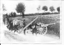 Régiment D'artillerie De Campagne Caisson Et Canon De 75mm Batterie En Position De Tir 1 Photo 1914 Manoeuvres Ww1 - Guerre, Militaire