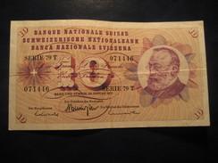 10 Francs 1972 SWITZERLAND Suisse Circulated Banknote Billet Billete - Suiza