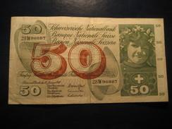 50 Francs 1969 SWITZERLAND Suisse Circulated Banknote Billet Billete - Switzerland