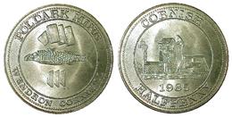 03632 GETTONE JETON ADVERTISING POLDARK MINE WENDRON CORNWALL HALFPENNY 1985 - Unclassified