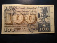 100 Francs 1971 SWITZERLAND Suisse Circulated Banknote Billet Billete - Switzerland