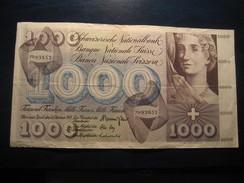 1000 Francs 1973 SWITZERLAND Suisse Circulated Banknote Billet Billete - Switzerland