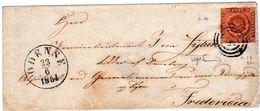 Lettre Danemark #2 Fire RBS 1854 Odense Odensk DENMARK Signée - 1851-63 (Frederik VII)