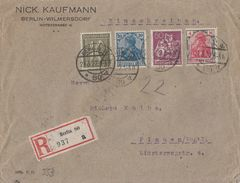 DR R-Brief Mif Minr.144,153,159,184 Berlin 21.3.22 - Deutschland
