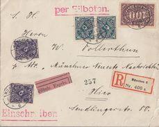 DR Orts-R-Eilbote-Brief Mif Minr.2x 209,2x 230,247 München 5.3.23 - Deutschland
