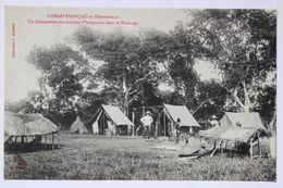Congo Français Et Dépendances-Campement En Tournée D'inspection Dans Le Kouango.Collection J.Audema - Congo Français - Autres