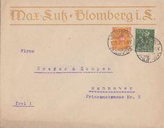 DR Werbeumschlag Max Lutz Blomberg Mif Minr.187,205 Blomberg 13.11.22 - Deutschland