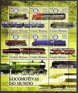 Guinea Bissau Kleinbogen  Lokomotiven  2005  **/MNH - Trains