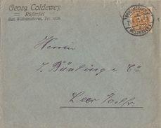 DR Brief Mef Minr.5x 275b Wilhelmshaven 29.9.23 Geprüft - Allemagne