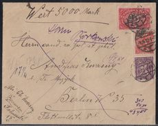 DR Wertbrief Mif Minr.164,195,225 Berlin 1.8.22 Geprüft - Deutschland