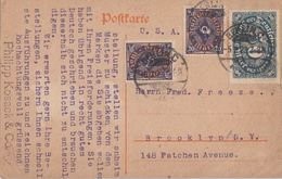 DR Karte Mif Minr.2x 207,246 Berlin 5.2.23 Gel. In USA - Deutschland