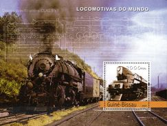 Guinea Bissau Block  Dampflokomotiven  2003  **/MNH - Trains