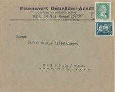 DR Brief Mif Minr.387,392 Berlin 28.1.28 Perfins GA  Gebrüder Arndt - Deutschland