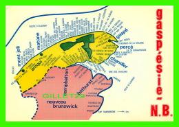 CARTE GÉOGRAPHIQUE - MAPS -  TOWN OF LA GASPÉSIE & NEW BRUNSWICK - LA SOCIÉTÉ KENT INC - - Cartes Géographiques