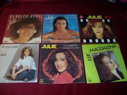 JULIE  PIETRI  °  LOT DE 12 / 45 TOURS - Complete Collections