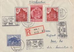 DR R-Brief Mif Minr.2x 715,737,744 Köln 20.4.40 - Briefe U. Dokumente