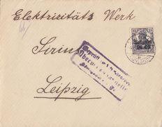 Postgebiet Ob.-Ost Brief EF Minr.7 Libau Zensur - Besetzungen 1914-18