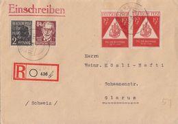 SBZ R-Brief Mif Minr.182,227,2x 228 Leipzig 17.12.48 Gel. In Schweiz - Sowjetische Zone (SBZ)