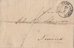 Preussen Brief K2 Mühlheim Am Rhein 27.2. Mit Inhalt - Preussen