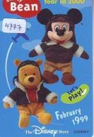 Télécarte Japon * 110-205396 * DISNEY STORE (4777) OURS WINNIE POOH * Série BEAN FEBRUARY 99 Japan Movie Phonecard - Disney