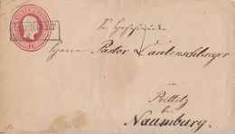 Preussen GS-Umschlag 1 Sgr. R2 Querfurt 29.9. Gel. Nach Prittitz Bei Naumburg - Preussen