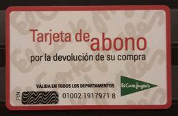 ESPAÑA TARJETA DE ABONO EL CORTE INGLÉS. - Tarjetas De Regalo