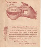 Ensemble De 6 Prospectus Publicitaires Café Et Thé/Chase & Sanborns/Montréal/ Hall & Fairweather/vers 1930-1950   VPN125 - Canada