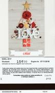 ## Carte  Cadeau   CARREFOUR  CE  15eu  ## ( FRANCE) Gift Card, Giftcart, Carta Regalo, Cadeaukaart - Cartes Cadeaux