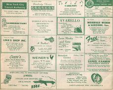 Tableau Des Horaires/ Official Time Table Corporation/ Express/New York City / USA/ 1955   VPN126 - Biglietti Di Trasporto