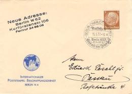 SST Berlin-Charlottenburg 5 Ausstellung Gebt Mir 4 Jahre Zeit 1937 - Marcofilia - EMA ( Maquina De Huellas A Franquear)