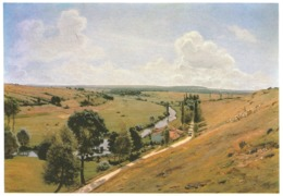 La Vallée De La Saône Entre LIRONCOURT Et CHATILLON - Peinture De JAN MONCHABLON (1855 - 1904) - Frankrijk