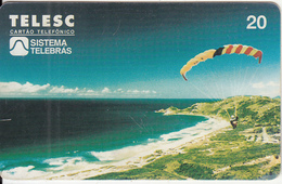 BRAZIL(Telesc/Sistema Telebras) - Extreme Sports/Parachute, 04/98, Used - Sport