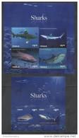 TUVALU, 2014, MNH, MARINE LIFE, SHARKS,PART II,SHEETLET +S/SHEET, NICE PHOTOS - Marine Life