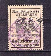 Gebuehrenmarke, Staatl Polizeikasse Wiesbaden, Verwaltungsgebuehr, 50 Pfg (45338) - Seals Of Generality