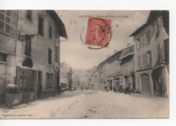 Cpa.01.La Cluse.Route De Nantua En Hiver.1905.animé Personnages - Francia
