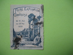 Vignette Foire Exposition  Comtoise  1925 - Besançon - Autres