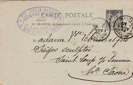 Carte Commerciale 1892 / Entier / Fois LEGLAS MAURICE / Meubles / 44 Nantes - Maps