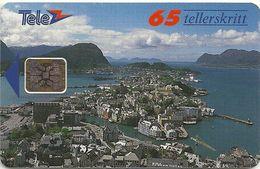 Norway - Telenor - Alesund - N-008g - Sn.00208 - SC5, 01.1992, 6.000ex, Used - Norway