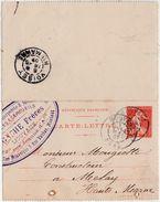 Carte Lettre Commerciale 1907 / Entier / LAGACHE Frères / Charpente Meubles / 59 Mouvaux / Nord - Maps