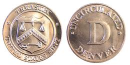02853 GETTONE TOKEN JETON ADVERTISING NUMISMATIC TREASURY UNITED STATES  MINT D DENVER - USA