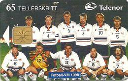 Norway - Telenor - Football VM-98 - N-120 - 06.1998, 50.000ex, Used - Norway