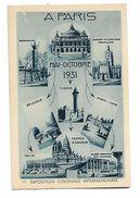 Coloniale  Internationale  -      Mai   -   Octobre      1931   -     8  Petites  Vues - Expositions
