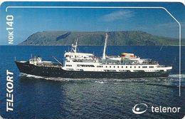 Norway - Telenor - Hurtigruta Ship - N-214 Sn.1613000C1 - 2001, 19.996ex, Used - Norway