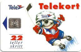Norway - Telenor - Icehockey - N-006b - Sn.41382 - SC5, 1992, 4.000ex, Used - Norway