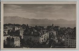 Lausanne-Ouchy Et Les Alpes - Photo: Georges Jaeger - VD Vaud