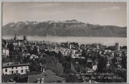 Lausanne - La Cathedrale, La Tour Bel-Air Et Les Alpes - VD Waadt