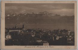 Lausanne Et Les Montagnes De La Savoie - Photo: Charnaux Freres No. 10965 - VD Vaud