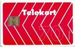 Norway - Telenor - Red Arrow - N-004A - Chip SC4-G - 01.1990, 9.000ex, Used - Norway