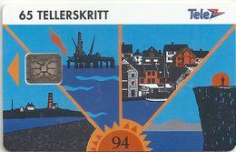 Norway - Telenor - Rogaland - N-30 - Sn.C46100840, 05.1994, 9.800ex, Used - Norway