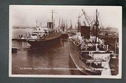 LLc - CP - 76 - Le Havre - Paquebots Lafayette Et Colombie  - - Le Havre